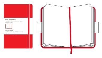 Moleskine classic, Large Size, Plain Notebook, red  | Dodax.ch