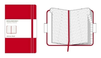 Moleskine classic Red Cover, Large Size, Address-Book  | Dodax.ch